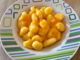Gnocchi con crema di carote